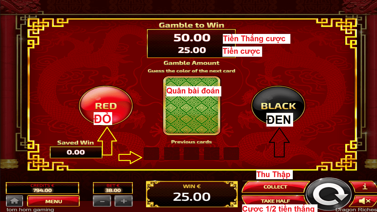 Huong dan choi song bai Lasvegas game slot No Hu Dragon Riches 2 nha cai OXBET