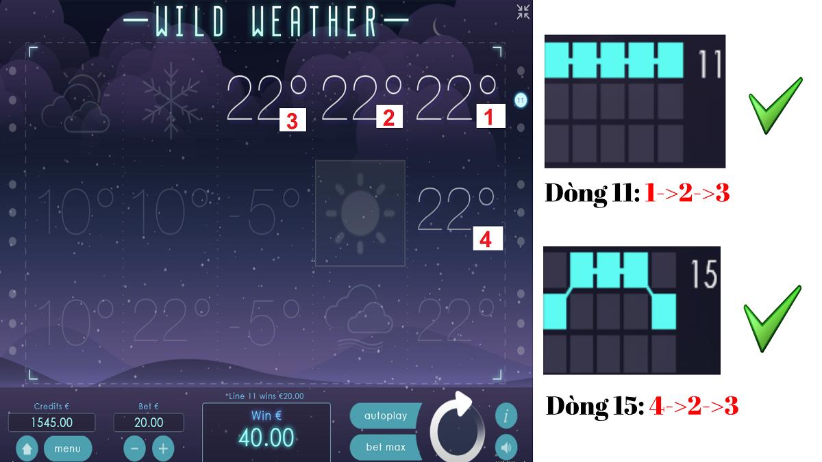 Huong dan choi song bai Lasvegas game slot No Hu Wild Weather TNP nha cai OXBET